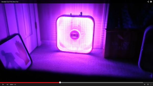 Illuminated LED Box Fan