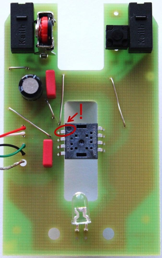 Solder the Chip (sensor)