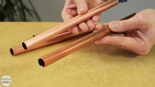 Cleaning the Tarnished Copper Pipes