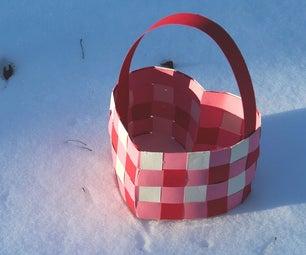 Paper Heart Basket
