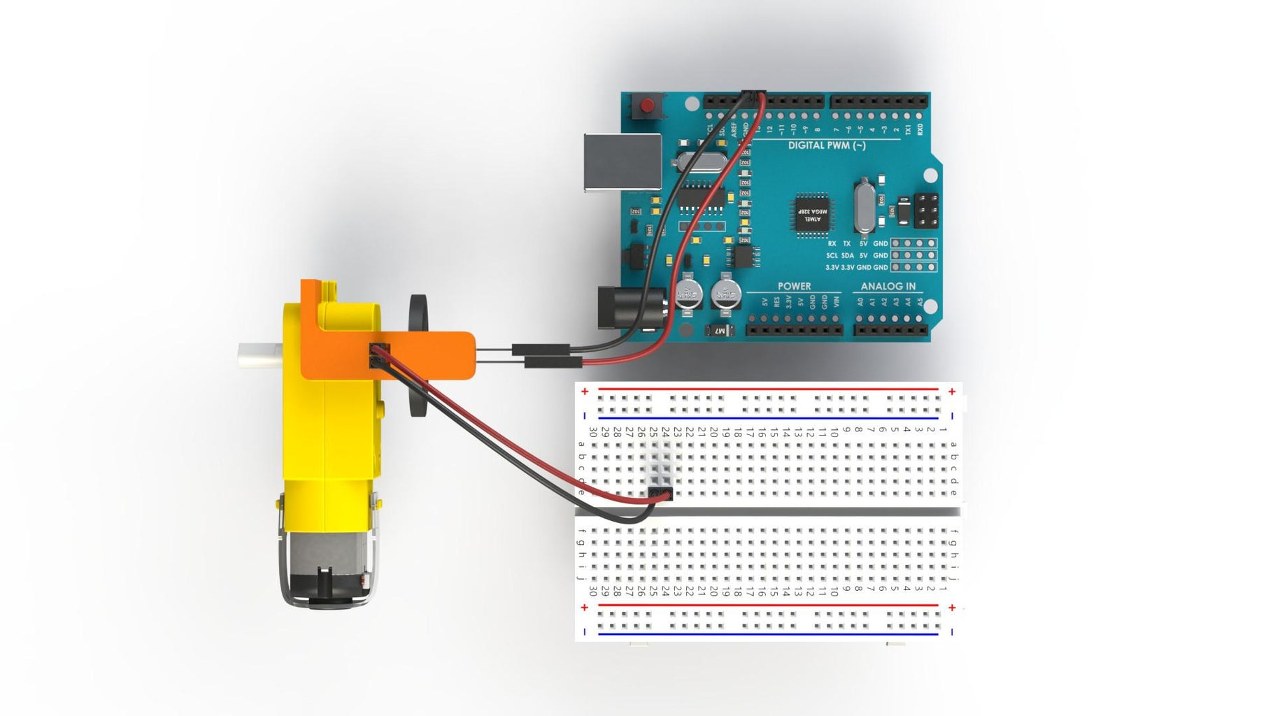 LDR Motor Encoder Wiring
