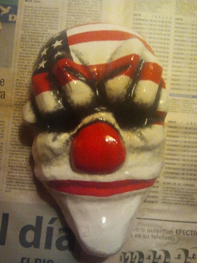 Payday: The Heist Dallas clown mask
