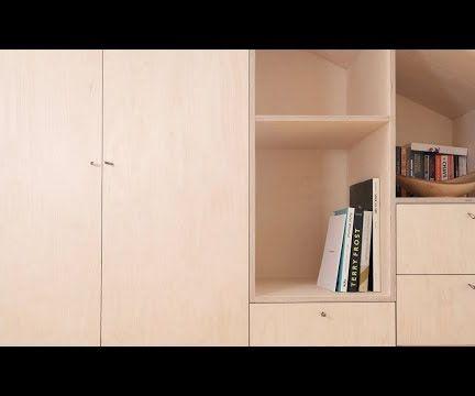 Built in Birch Plywood Cabinet/ Wardrobe