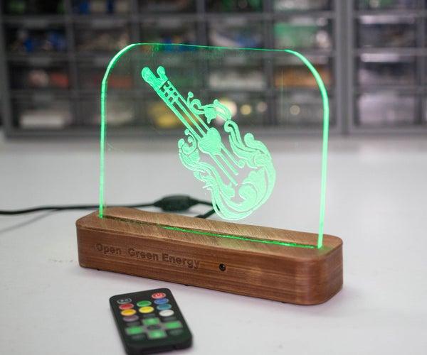 DIY Acrylic RGB LED Sign
