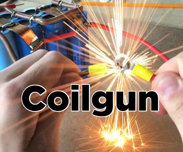 DIY Easy Coilgun | Electronic Projectile Launcher