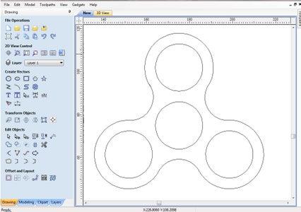Fidget Spinner Desig With Vectric Aspire 8.5