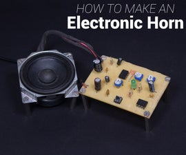 Electronic Loud Horn Using 555 Timer