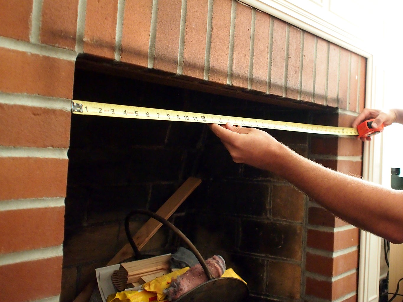Measure Fireplace Opening