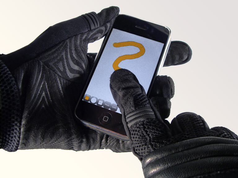 Making A Glove Work With A Touch Screen