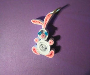 Quillied Bunny Pendant