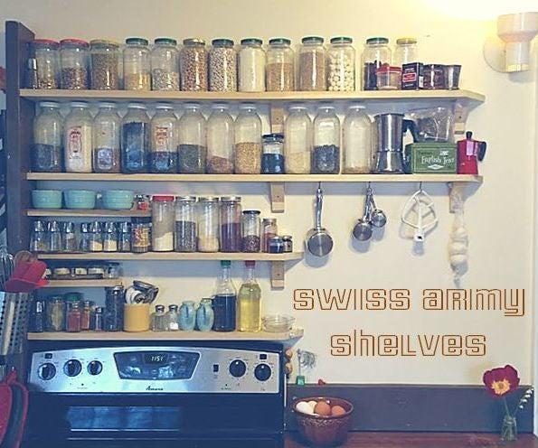 Swiss Army Shelves