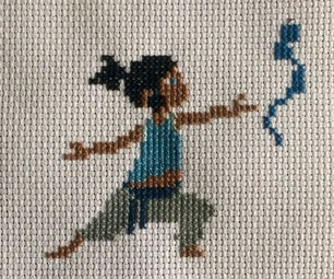 Legend of Korra Cross Stitch: Young Korra
