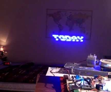 Alphanumeric laser projector with arduino