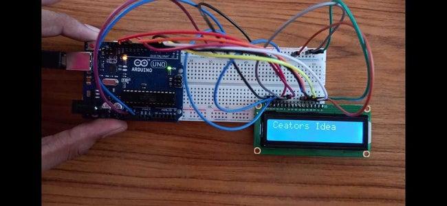 Arduino LCD Display Printing