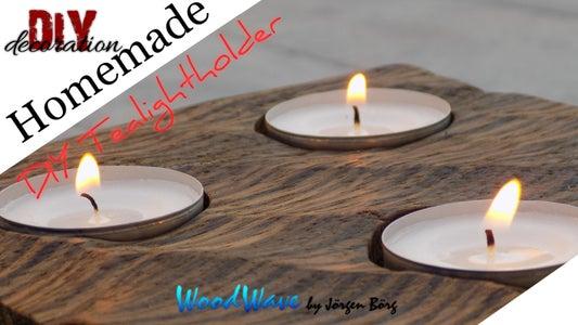 Tealightholder: WoodWave by Jörgen Börg