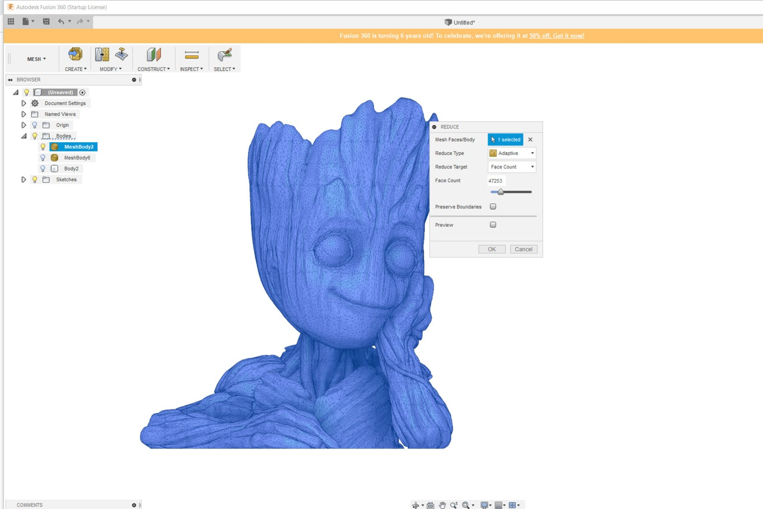 Fusion 360 - Edit an Stl File - Trouble Shooting