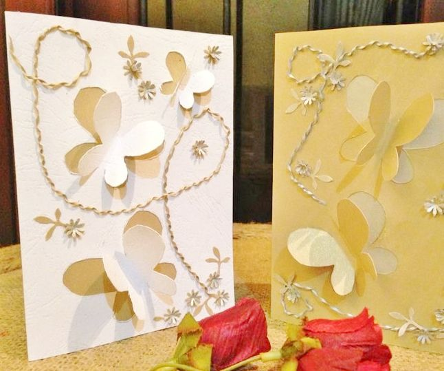 Elegant Butterfly Cut Out Card