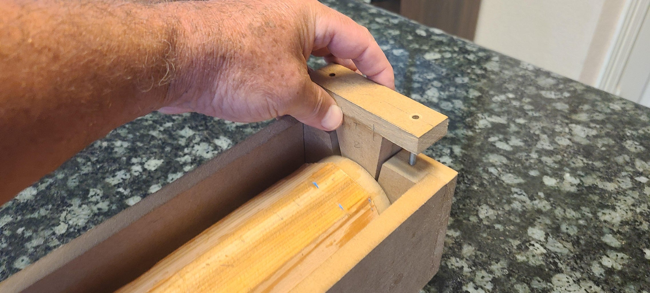 Loading the Octagonal Blank Into the Jig