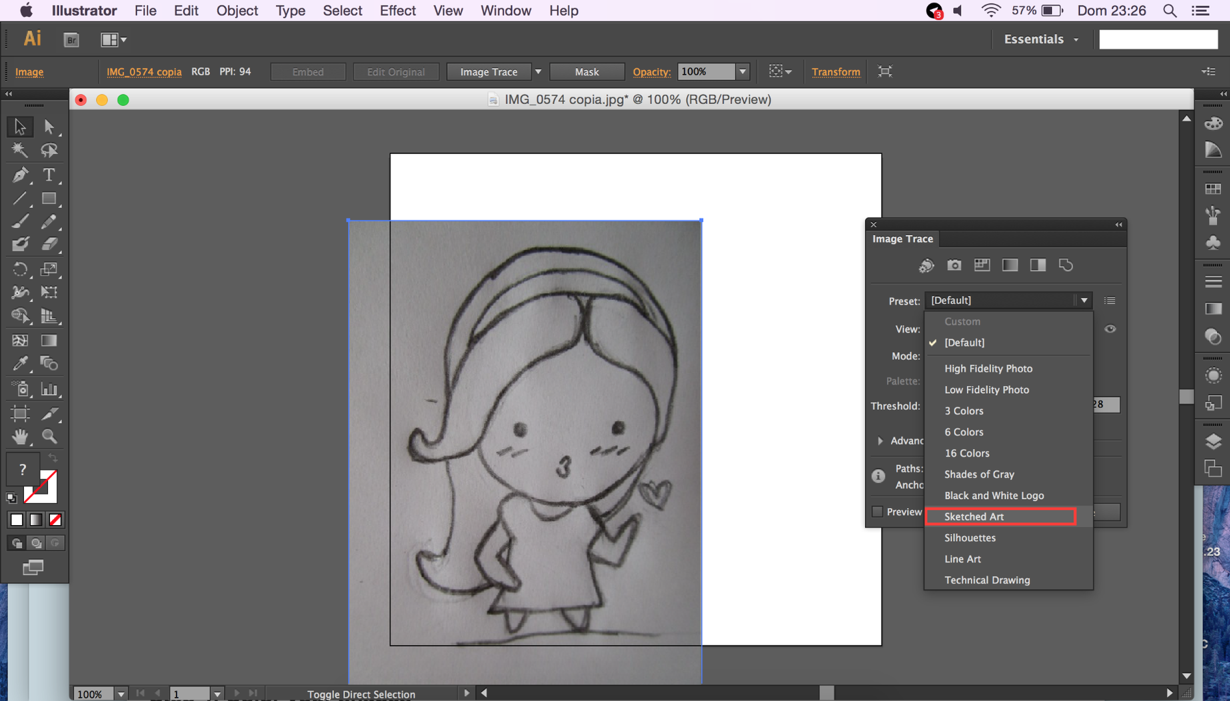 Use Image Trace to Create Smooth Lines Easily
