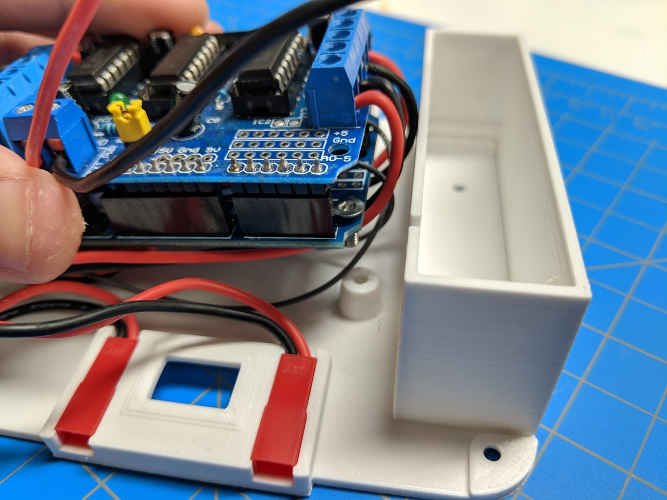 Mounting the Arduino Stack Onto the Chassis Lower Section