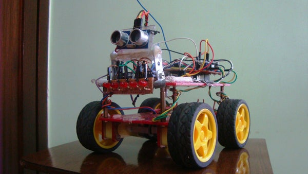 The Wireless,Obstacle Detecting,Beeping Robot Using Arduinos!