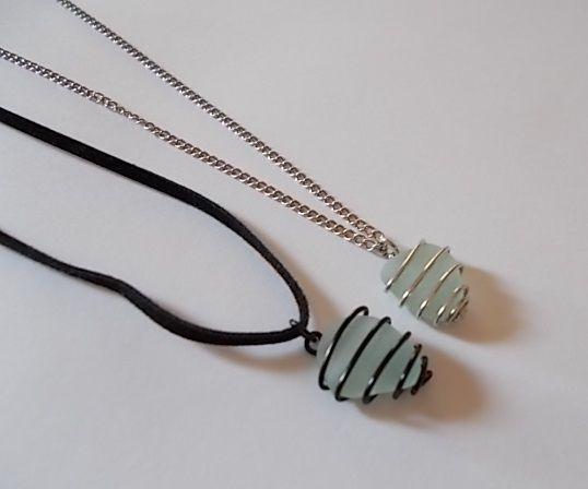 Wire-Wrapped Sea Glass Pendant