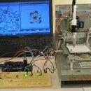 Mini CNC machine Arduino Based & Adafruit Driver Motor L293D v1 & 2*Mini Stepper CD/DVD player #1