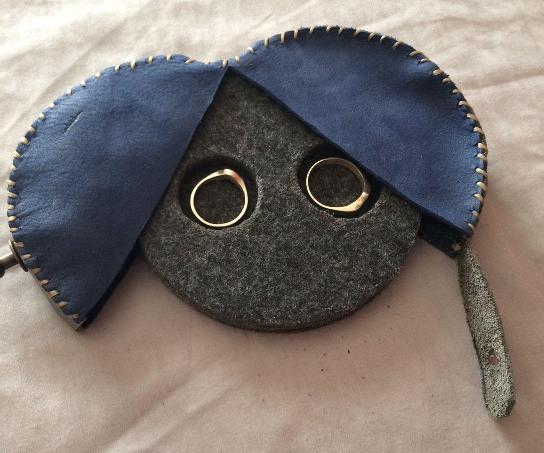 Leather Wedding Ring Box