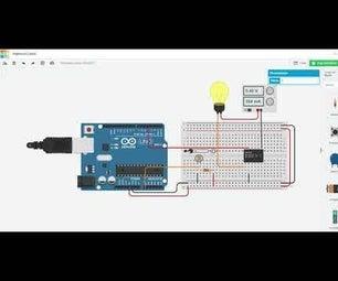 Arduino Light Intensity Lamp on TINKERCAD