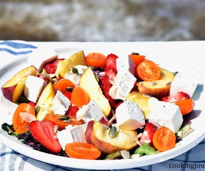 Summer Fruit Salad on the Seaside