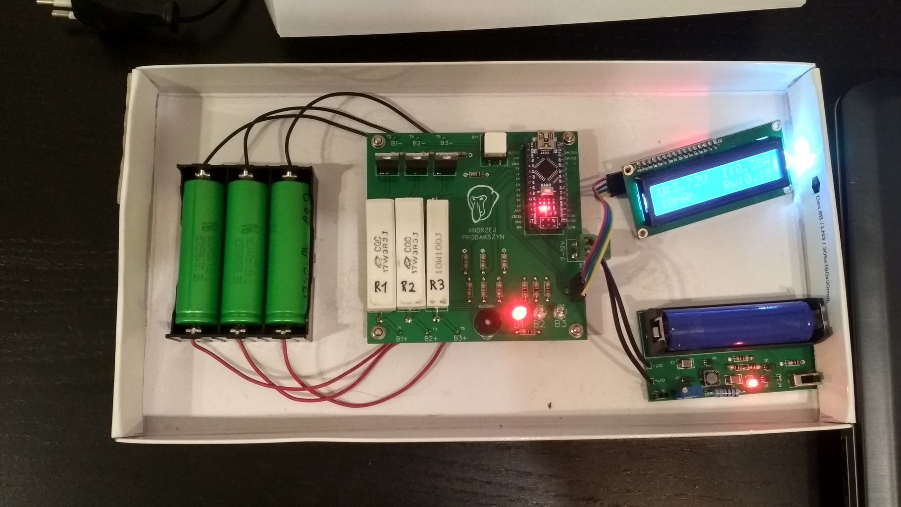 3 X 18650 Battery Capacity Tester