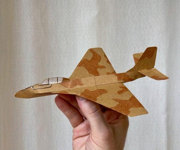 Card Stock Delta Jet Airplane