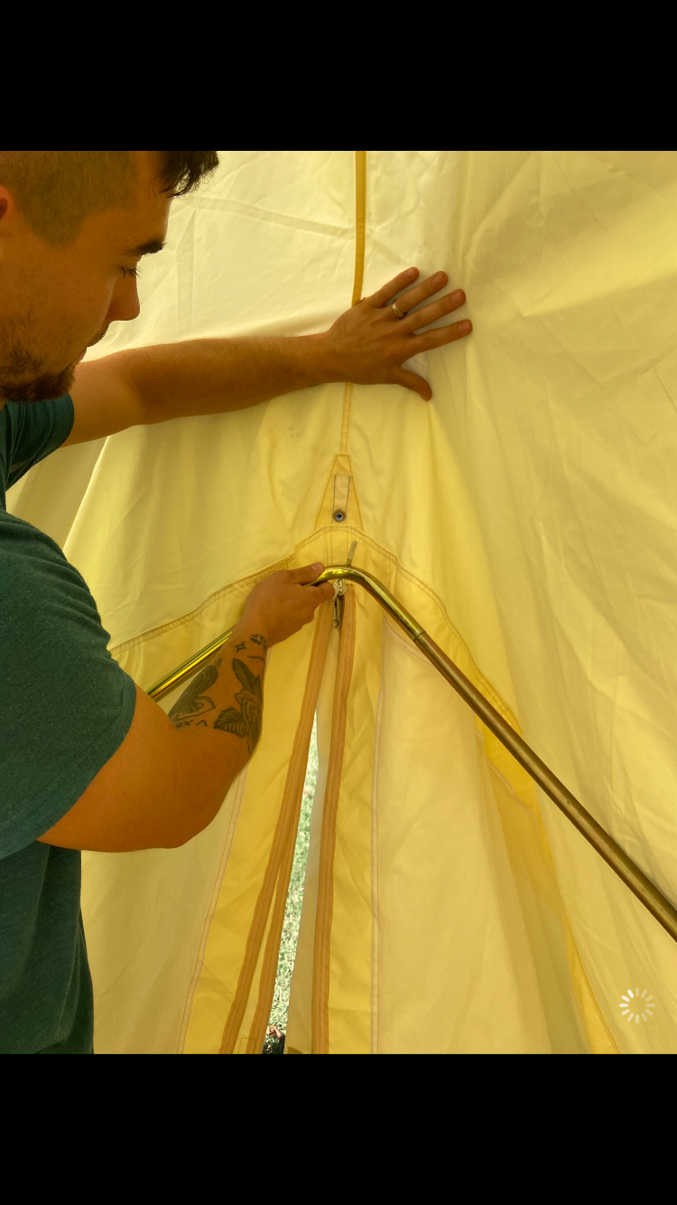 Place and Secure the A-Frame Pole