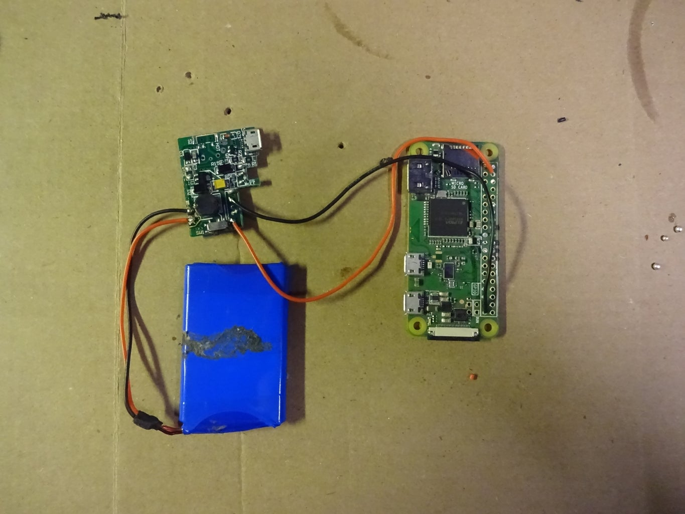 Solder the Battery to the Raspberry Pi