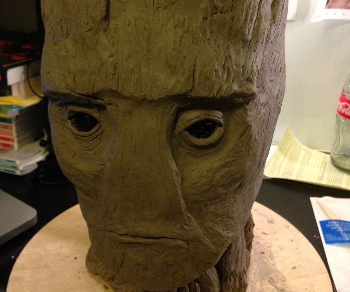 Groot Head Sculpture