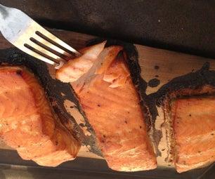 Maple Dijon Cedar Planked Salmon