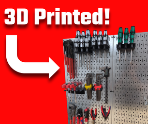 Custom 3D Printed Pegboard Toolholders (Fits Any Tool Perfectly!)