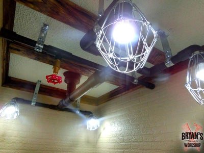Pipe Lights on the Ceiling!