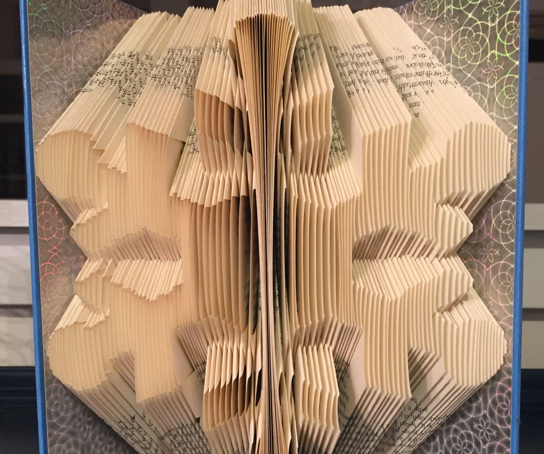 Snowflake Book Folding Pattern. Book Art Tutorial Using Template Pattern