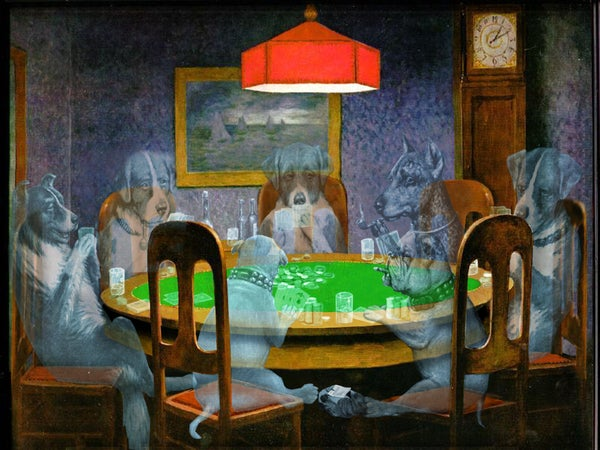 Ghost Dogs Playing Poker (ghosting Any Image in a Scene Is the Same)