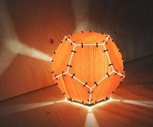 Laser Cut Wood Veneer Lamp