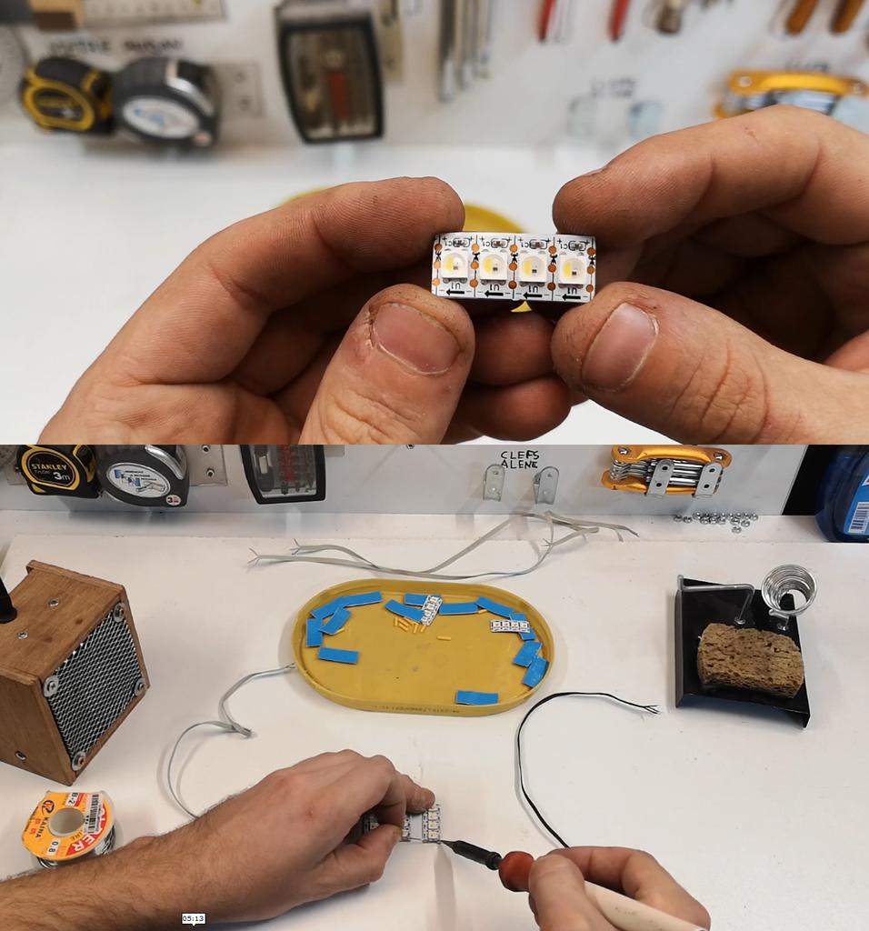 Découper Et Souder Les Bandes LEDS / Cut and Sold LED Strip