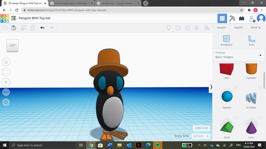 Use Those Two Spheres for the Eyes. to Do This You Need to Elongate the Spheres, As Well As Rising Them Into Position.