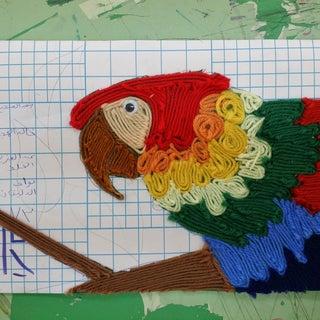 DIY Yarn Art   Easy Tactile Canvas 'Paintings'