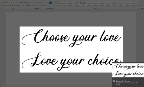 Prepping the Font Words