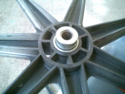 Detail of the Axle Wheel Attachment.