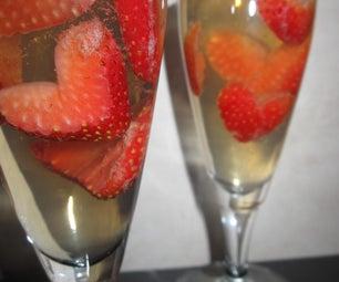 Strawberries & Champagne Jello