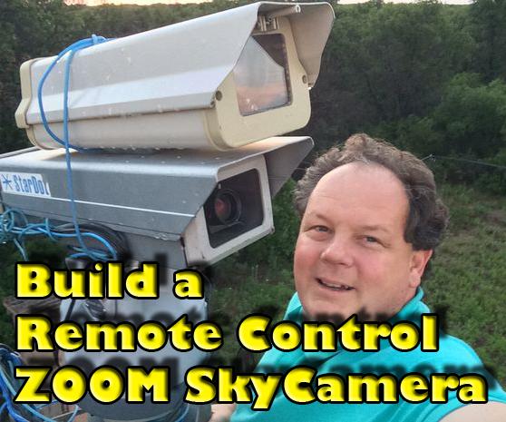 Remote Control Mini-VideoTelescope With Pan/Tilt/Zoom