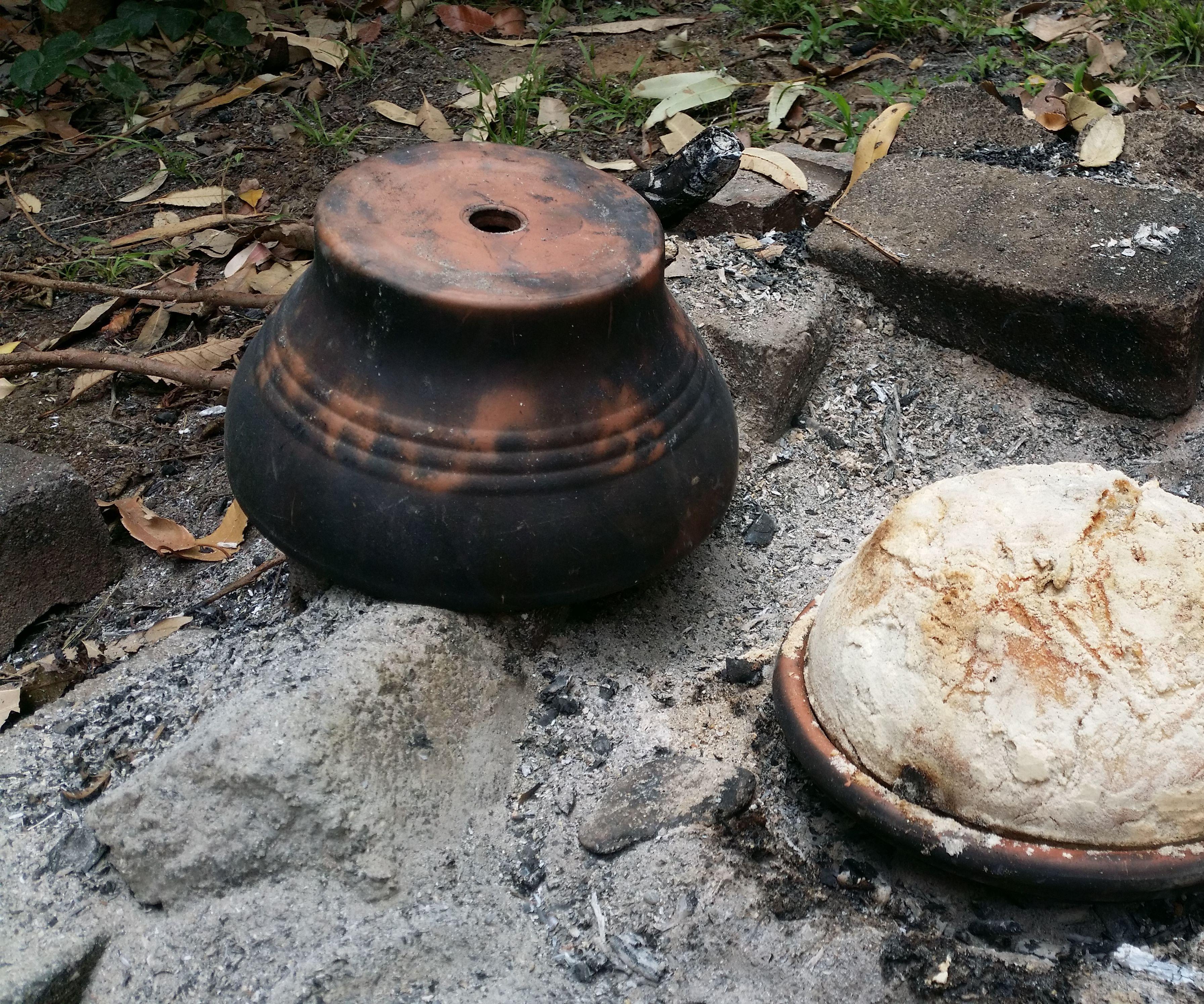 Baking Bread in a Ceramic Flower Pot