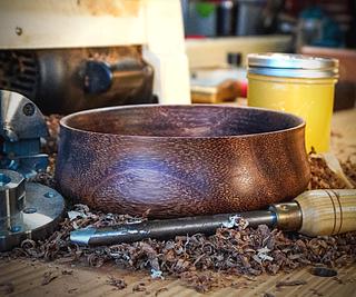 Turning an Exotic Wood Bowl   Small Bowl Turning